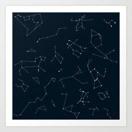 Silver Constellations Art Print