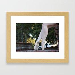 Ballet Legs #1 Framed Art Print