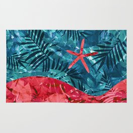 Summer Beach Tropical Pattern Rug