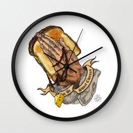 Holy Cheesus Wall Clock