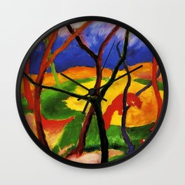 "Franz Marc ""Weasels At Play"" Wall Clock"