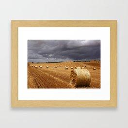 Harvest Before the Storm Framed Art Print