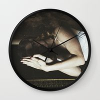ultraviolence Wall Clocks featuring Born to die by UVGLOV