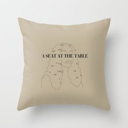 A Seat at the Table Throw Pillow