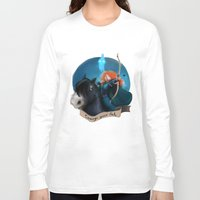 merida Long Sleeve T-shirts featuring Merida by Fla'Fla'