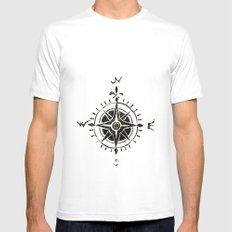 Compass - by Genu Mens Fitted Tee White MEDIUM