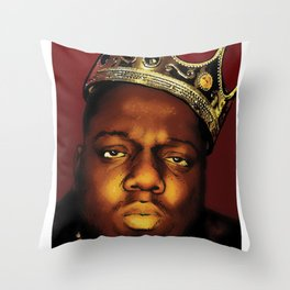 The Notorious B.I.G., Biggie Smalls Throw Pillow