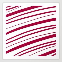 Candy Cane Stripes Art Print