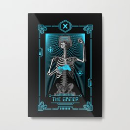 The Gamer X Tarot Card Metal Print