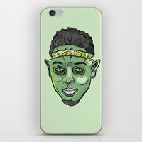 kendrick lamar iPhone & iPod Skins featuring Kendrick Lamar Yoda by Sneaker Pie