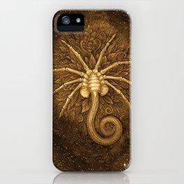 Facehugger (Sepia) iPhone Case
