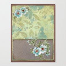 Brown paper flowers Canvas Print