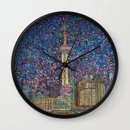 City Nights and City Lights Wall Clock