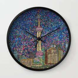 City Nights and City Lights Wall Clock