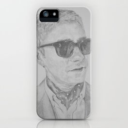 Martin Freeman With Shades Pencil iPhone Case