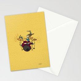 Crazy drummer Stationery Cards