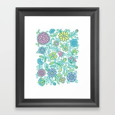 Color Blooms Framed Art Print
