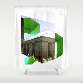Architecture A  Shower Curtain