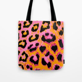 Gold and Pink Leopard Spots Tote Bag