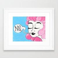fancy Framed Art Prints featuring fancy by liv n