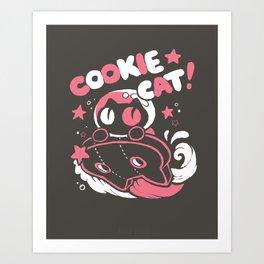 Cookie Cat Art Print