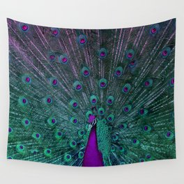 BLOOMING PEACOCK Wall Tapestry