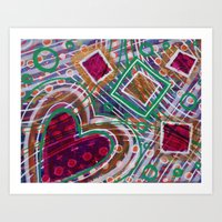 Movement from the Heart Space: Inner Power Painting Art Print