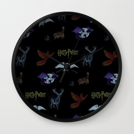Harry Potter Creature Pattern  Wall Clock