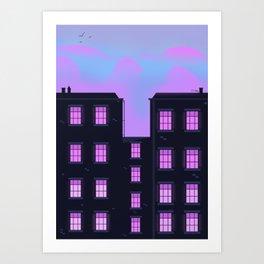 Townhouses Art Print