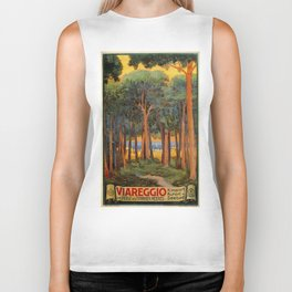 Viareggio woods and sea Biker Tank