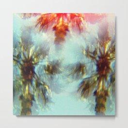 Egyptian Palm Trees Kaleidoscope Metal Print