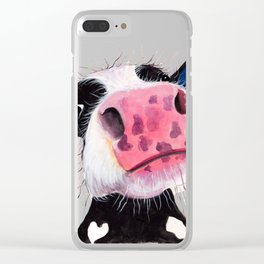 CoW PRiNT ANiMaL PRiNT ' THe NoSeY CoWS ' BY SHiRLeY MacARTHuR Clear iPhone Case