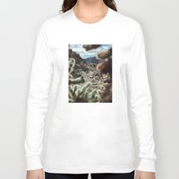frame Long Sleeve T-shirts featuring Cholla Frame by Kevin Russ