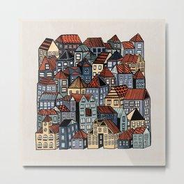 Little Town Metal Print