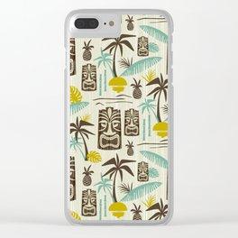 Island Tiki - Tan Clear iPhone Case