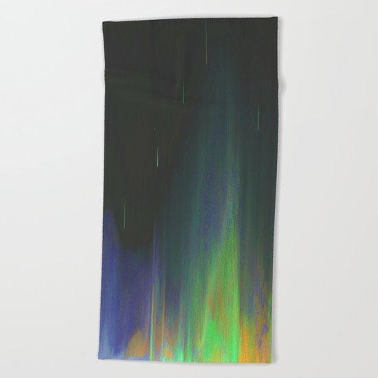 Night Rain Beach Towel