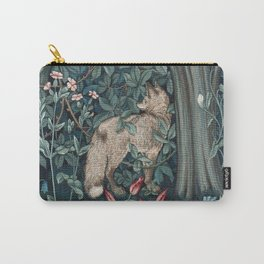 William Morris Forest Fox Tapestry Carry-All Pouch