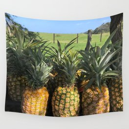 roadside pineapples in Hawaii Wall Tapestry