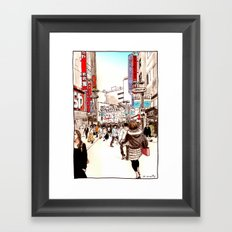 Street In Shibuya Framed Art Print