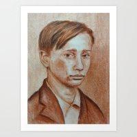 putin Art Prints featuring Vladimir Putin by Shneyka