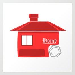 Red House Logo Style Art Print