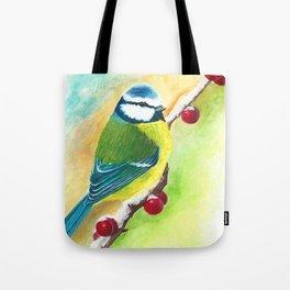 Blaumeise | Bluebird Tote Bag