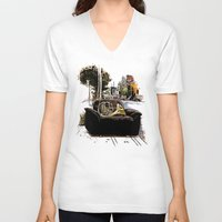 montreal V-neck T-shirts featuring Chairs of Montreal by Salgood Sam