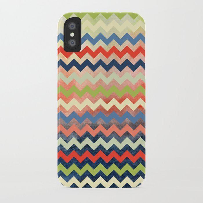 Watercolor Chevron iPhone Case