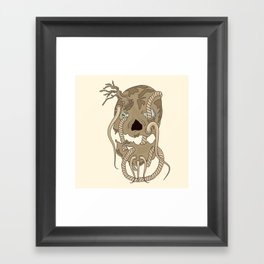 Dead Living by Tree Framed Art Print