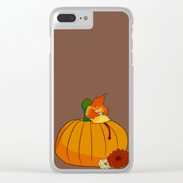 Leaf Cider Clear iPhone Case