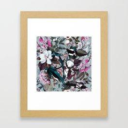 Floral and Birds XXIV Framed Art Print