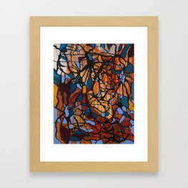 Meditating Framed Art Print