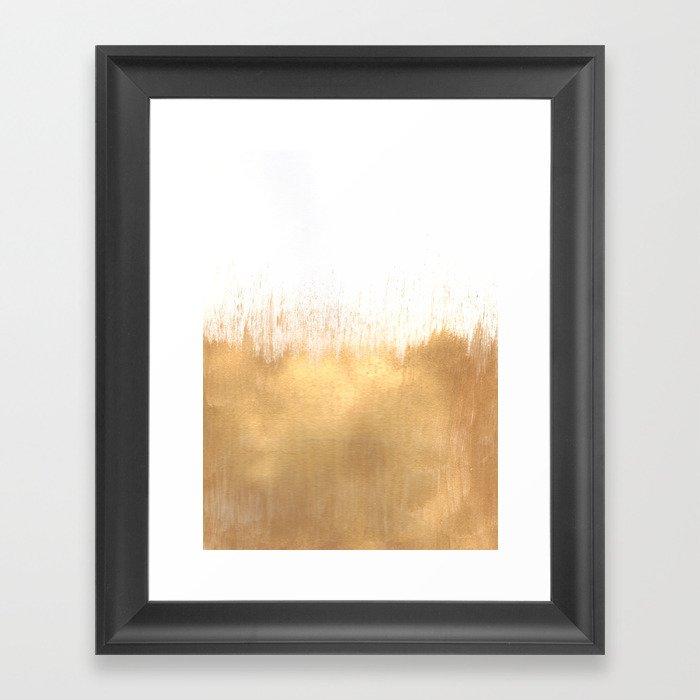 Brushed Gold Gerahmter Kunstdruck