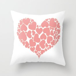 A Heart Full Of Love Pink Valentine Hearts Within A Heart Throw Pillow